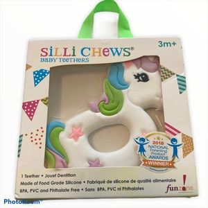 Silli Chews Baby Unicorn ring Silicone Teether toy